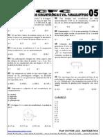 EXERCÍCIOS CIRCUNFERÊNCIAS E VOLUME DO PARALELEPÍPEDO - CFC 05
