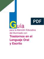 114246078 Guia Para La Atencion Educativa Del Alumnado Con Trastornos en El Lenguaje Oral y Escrito