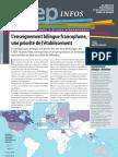CIEP Infos - L'enseignement bilingue francophone, una priorité de l´établissement