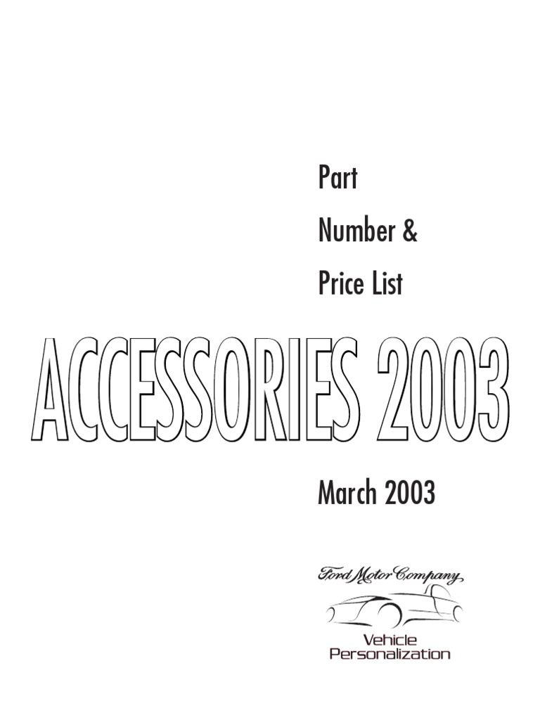 2003 Ford Accessories Catalog | Trailer (Vehicle) | Cargo