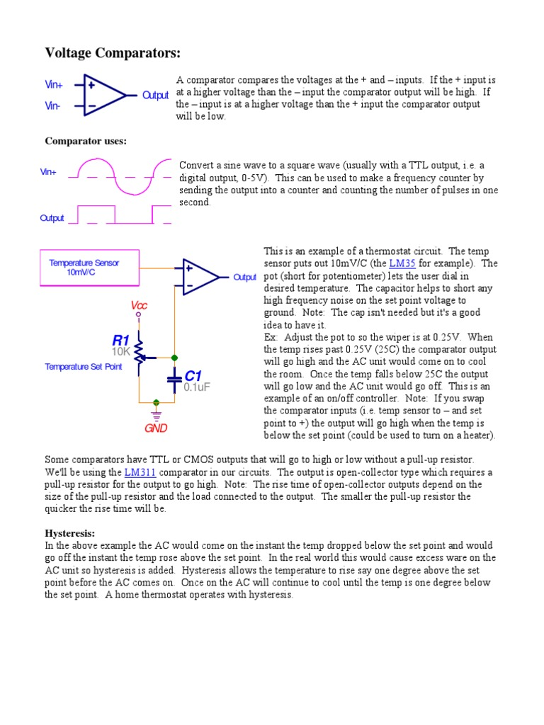 Digital Ckts Electricity Electrical Engineering Comparator To Make A Square Wave Oscillator The Circuit Is Below