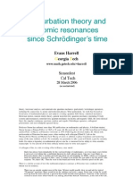 Perturbation theory and atomic resonances