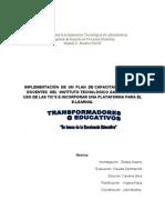 IMPLEMENTACIÓN  DE  UN  PLAN  DE CAPACITACIÓN,  caso 3  . Grupo H, fase investigación