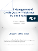 Tactical Management of Credit-Quality Weightings by Bond Funds
