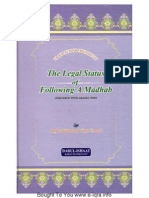 The Legal Status of Following a Madhab