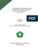 judul karya tulis ilmiah perilaku seksual dan pendidikan