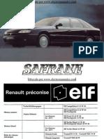 Manual del usuario del Renault Safrane 1992