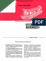 Manual del usuario Renault Torino 1970