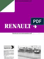 Manual del usuario del Renault 4 de 1985