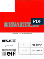 Manual del usuario del Renault 12 de 1990