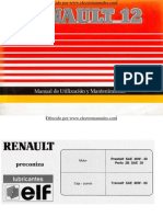 Manual del usuario de Renault 12 de 1992