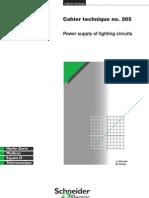 Power supply of lighting circuits