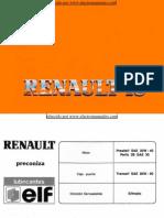 Manual del usuario del Renault 18 de 1990