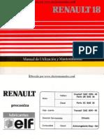 Manual del usuario del Renault 18 de 1991