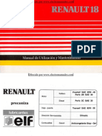 Manual del usuario del Renault 18 de 1991