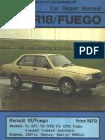 Manual del usuario del Renault 18 modelo Fuego