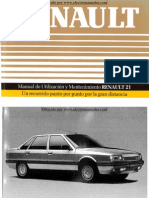 Manual del usuario del Renault 21 de 1989
