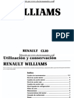 Manual del usuario del Renault Clio Williams de 1995