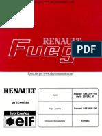 Manual del usuario del Renault Fuego de 1991