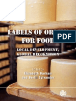 LAbels of Origin of food