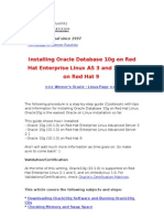 Installing Oracle Database 10g on Red Hat Enterprise Linux as 3 and 2.1, And on Red Hat 9