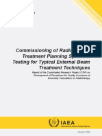 Commissioning for Radiotherapy TPS