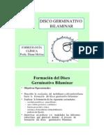 DISCO GERMINATIVO BILAMINAR EMBRIOLOGÍA SILVIA