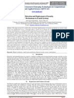 Fault Detection and Deployment of Security Mechanisms in E-mail Systems