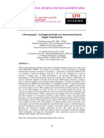 E-Procurement - An Empirical Study on Construction Projects Supply Chain Kuwait