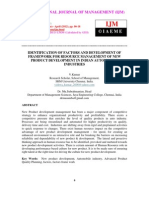 Identification of Factors and Development of Framework for Resource Management of New Product Development in Indian Automobile Industries