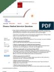 finance interview question