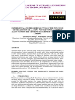 Experimental and Theoretical Study of the Influence of the Addition of Alumina Powder to 7020 Aluminum Alloy Foam on the Mechanical Behavior Under Impact Loading