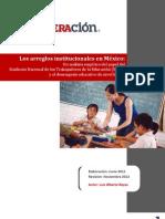 Arreglos institucionales en México y el SNTE en educacion basica
