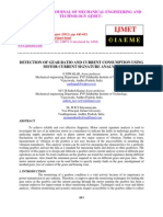 Detection of Gear Ratio and Current Consumption Using Motor Current Signature Analysis