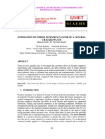 Estimation of Stress Intensity Factor of a Central Cracked Plate