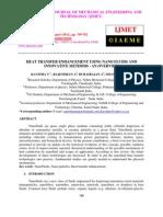 Heat Transfer Enhancement Using Nano Fluids and Innovative Methods - An Overview