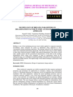Significance of Drilling Parameters on Delamination Factor in Gfrp an Image Analysis Approach