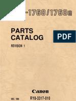 Canon LBP-1760 Parts Manual
