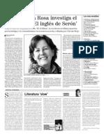 El inglés de Serón (Carmen de la Rosa) - La voz de Almería - Editorial Círculo Rojo