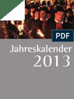 Jahreskalender 2013