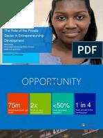 Jeffrey Avina - The Role of Private Sector in Entrepreneurship Development