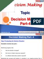 Decision Making Part 4