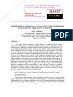 Mathematical Modeling and Analysis of Hoop Stresses in Hydroforming Deep Drawing Process