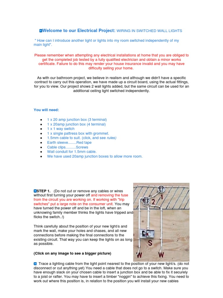 Junction Box Wiring Rules Diagram Services Lighting Wall Light Electrical Connector Rh Scribd Com Automotive
