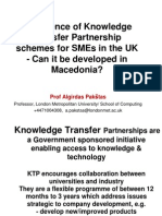 Experience of Knowledge Transfer Partnership