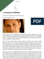 Corraling correlation