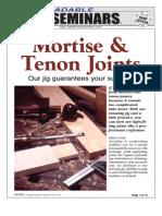 WoodPlans Online - Mortise & Tenon Joints
