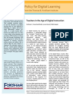 Teachers in the Age of Digital Instruction (Fordham Institute)
