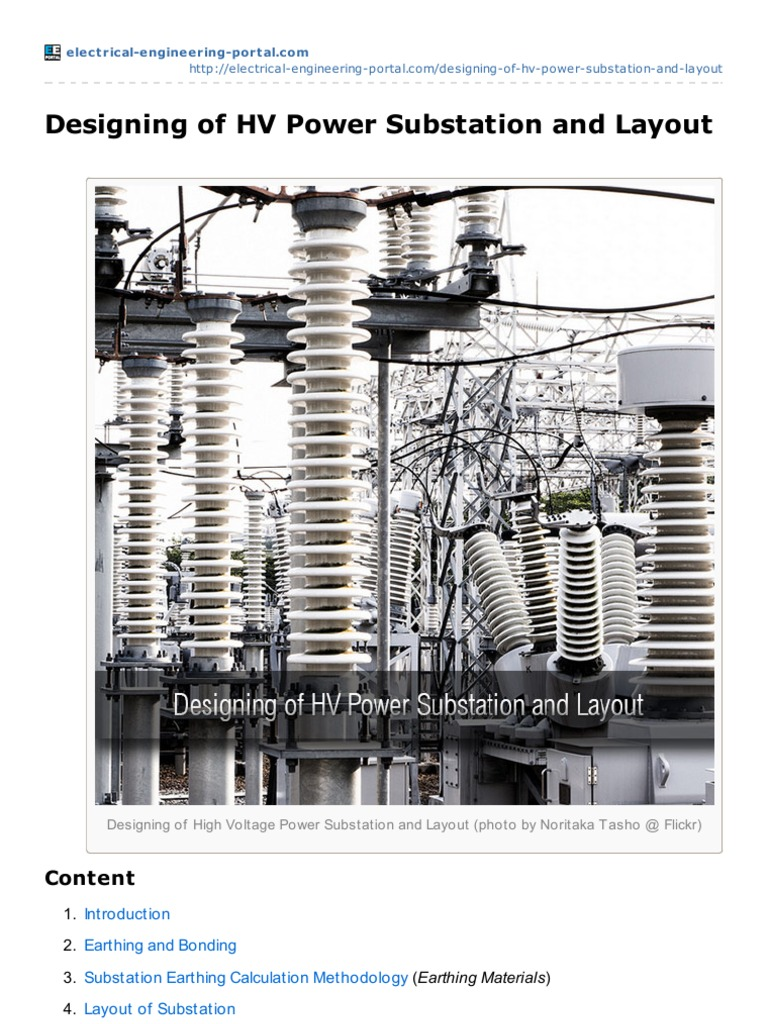 Electrical Engineering Portalcom Designing Of Hv Power Substation Rooms Layout Diagram And Insulator Electricity