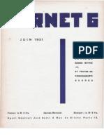 Carnet 6 - Juin 1931, par Carlo Suarès